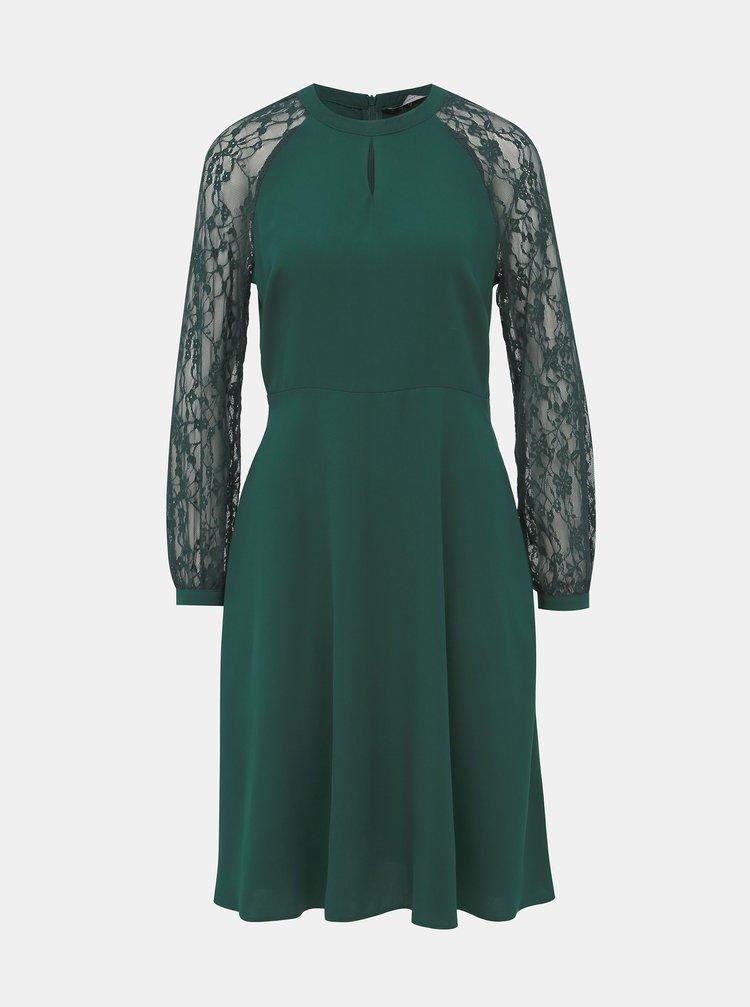 Zelené šaty s krajkou Dorothy Perkins