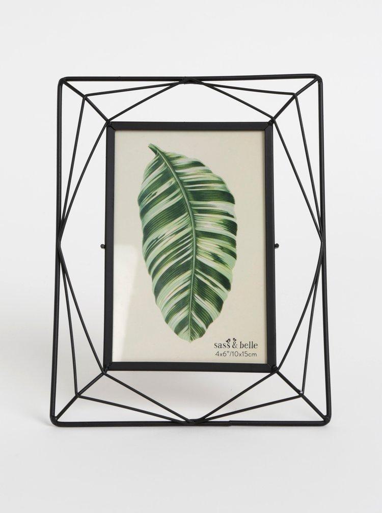 Černý kovový fotorámeček Sass & Belle 10 x 15 cm