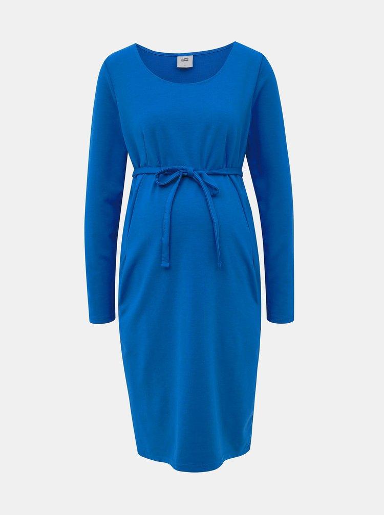 Modré pouzdrové těhotenské šaty Mama.licious Jaden