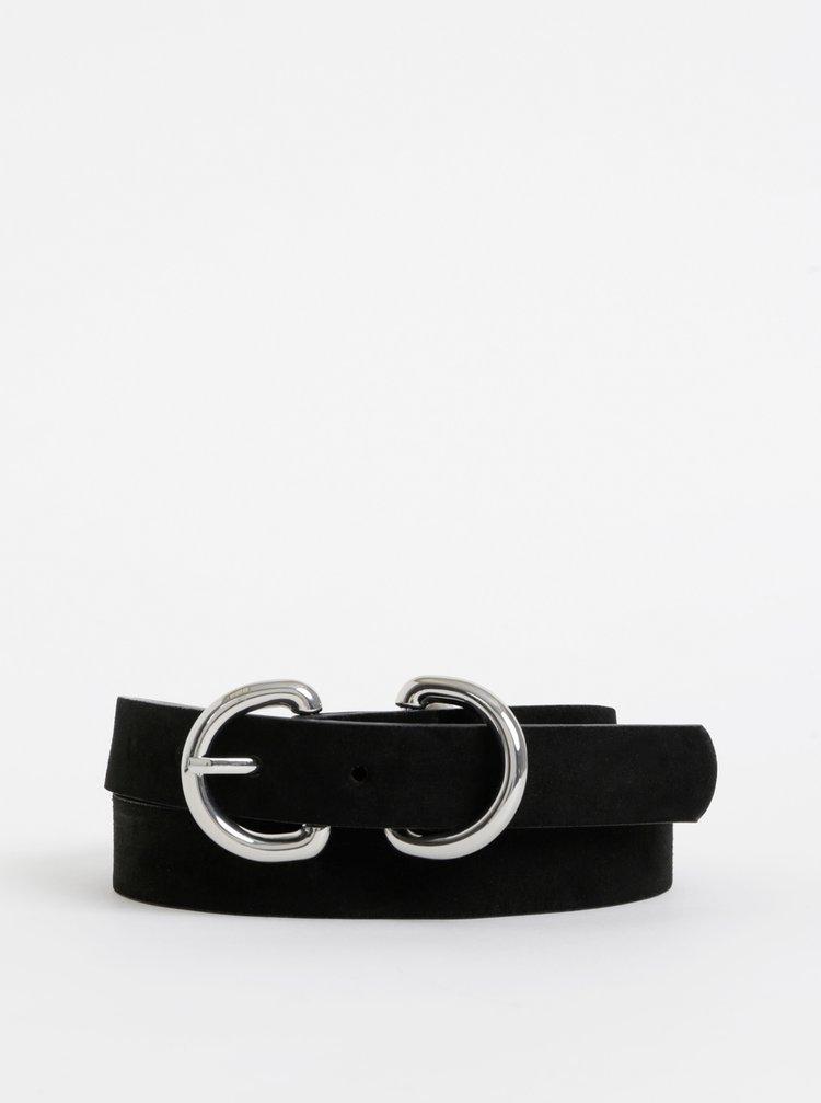 Černý semišový pásek Pieces Janda