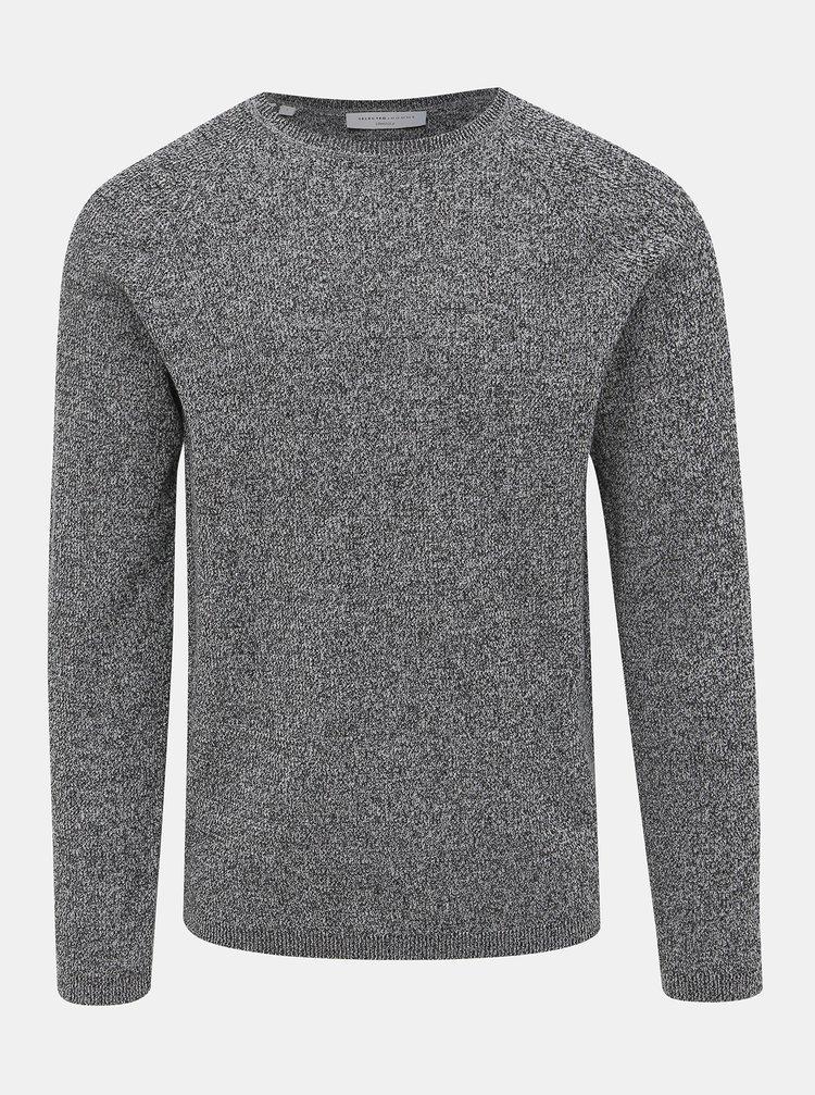 Šedý basic svetr Selected Homme Shane