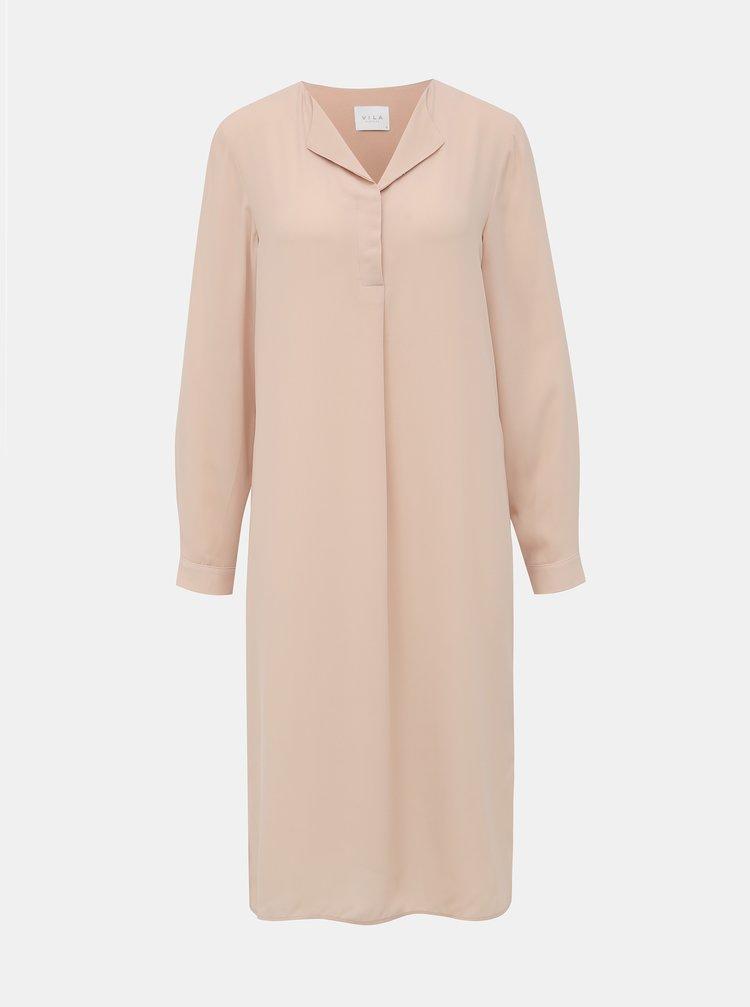 Světle růžové šaty VILA Lucy