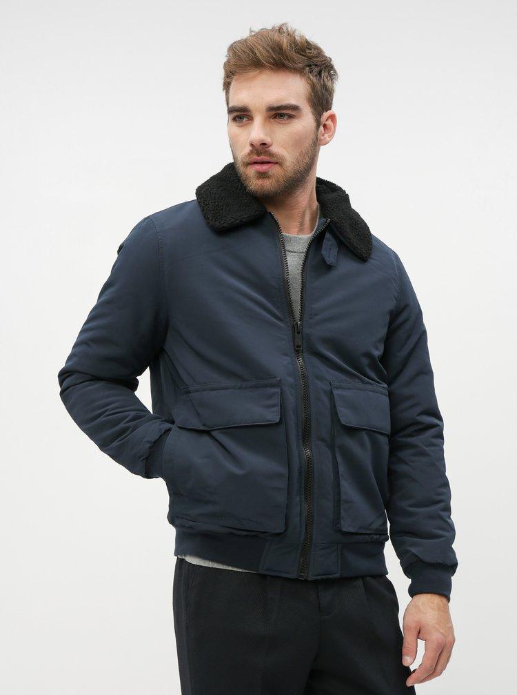 Tmavě modrá zimní bunda Burton Menswear London