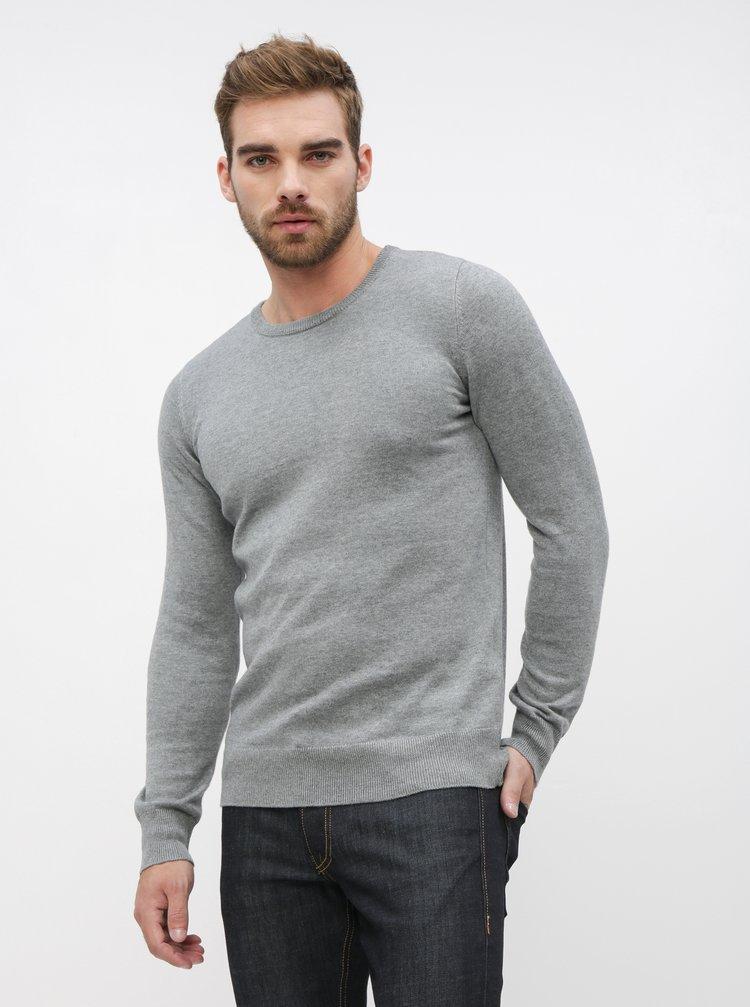 Šedý pánský basic svetr ZOOT