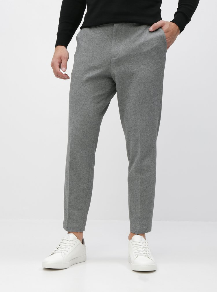 Šedé slim fit nohavice Selected Homme New Jersey