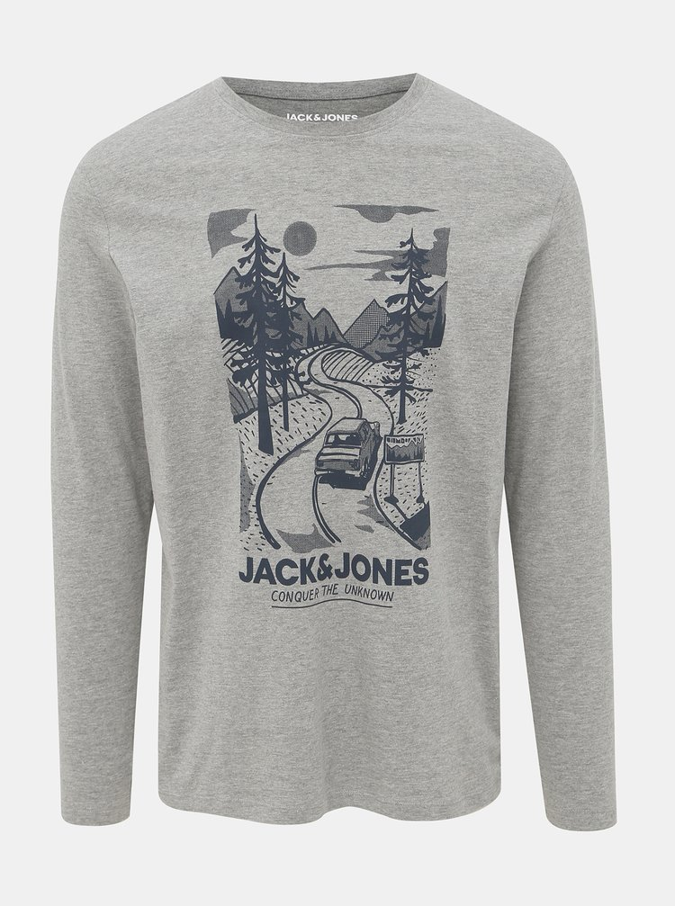 Šedé tričko Jack & Jones Brandon
