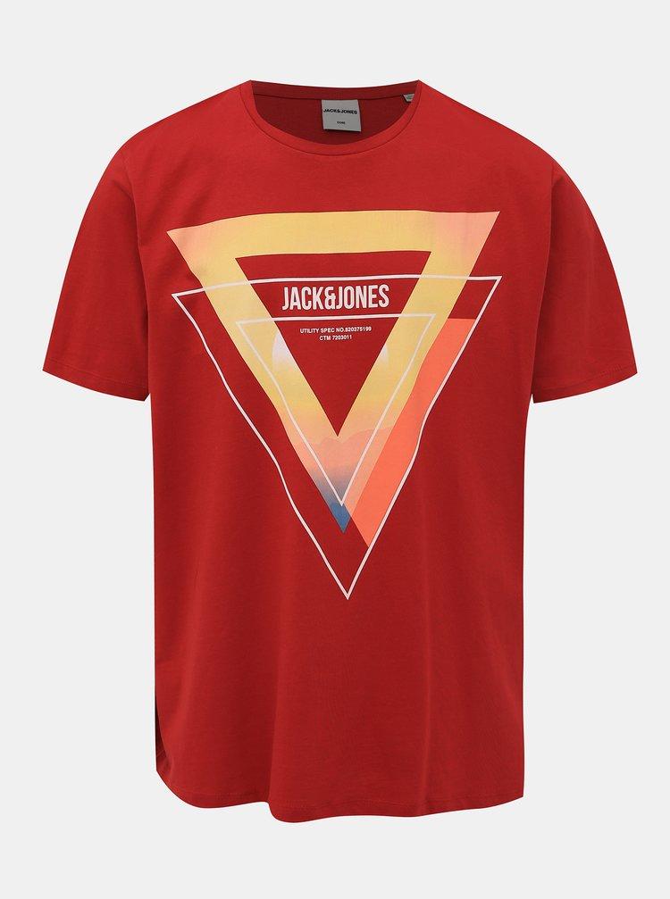 Červené tričko Jack & Jones Kodak