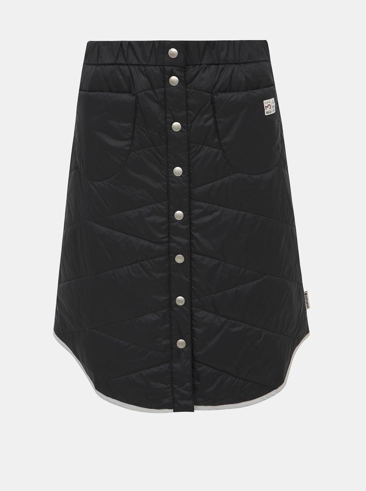 Černá prošívaná funkční sukně Maloja Adalie