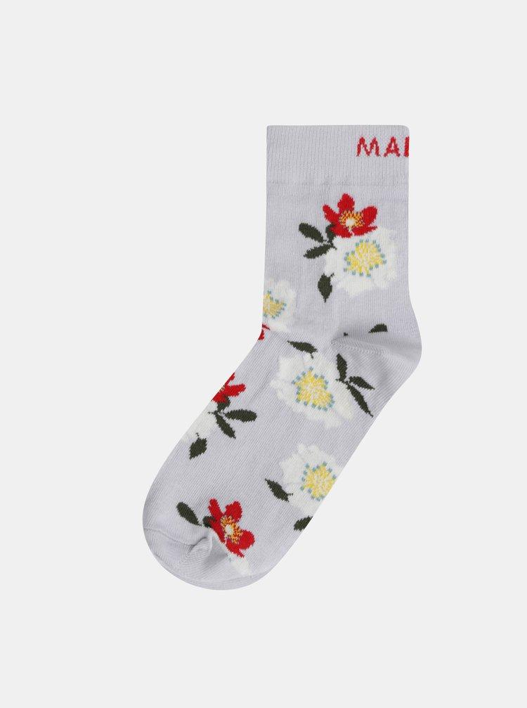 Šedé dámske kvetované ponožky Maloja Magalie
