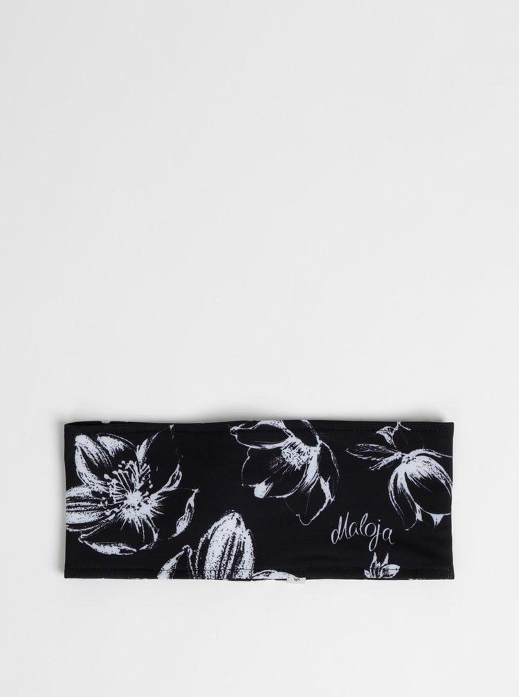 Černá dámská květovaná funkční čelenka Maloja Furscheala