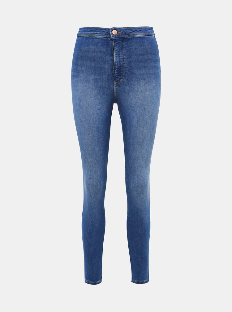 Modré jeggings Miss Selfridge
