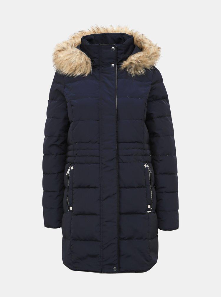 Tmavě modrý dámský prošívaný kabát VERO MODA Vienna