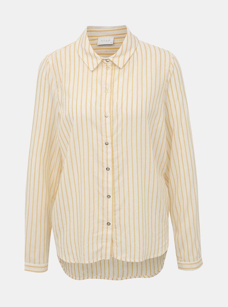 Béžová pruhovaná košile VILA Eria