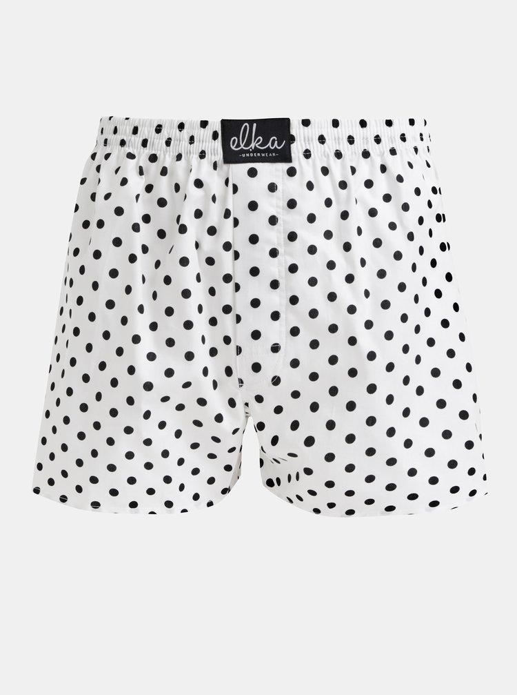 Biele pánske bodkované trenýrky El.Ka Underwear