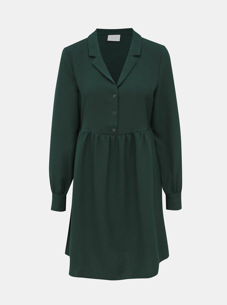 Tmavozelené šaty VILA Micca