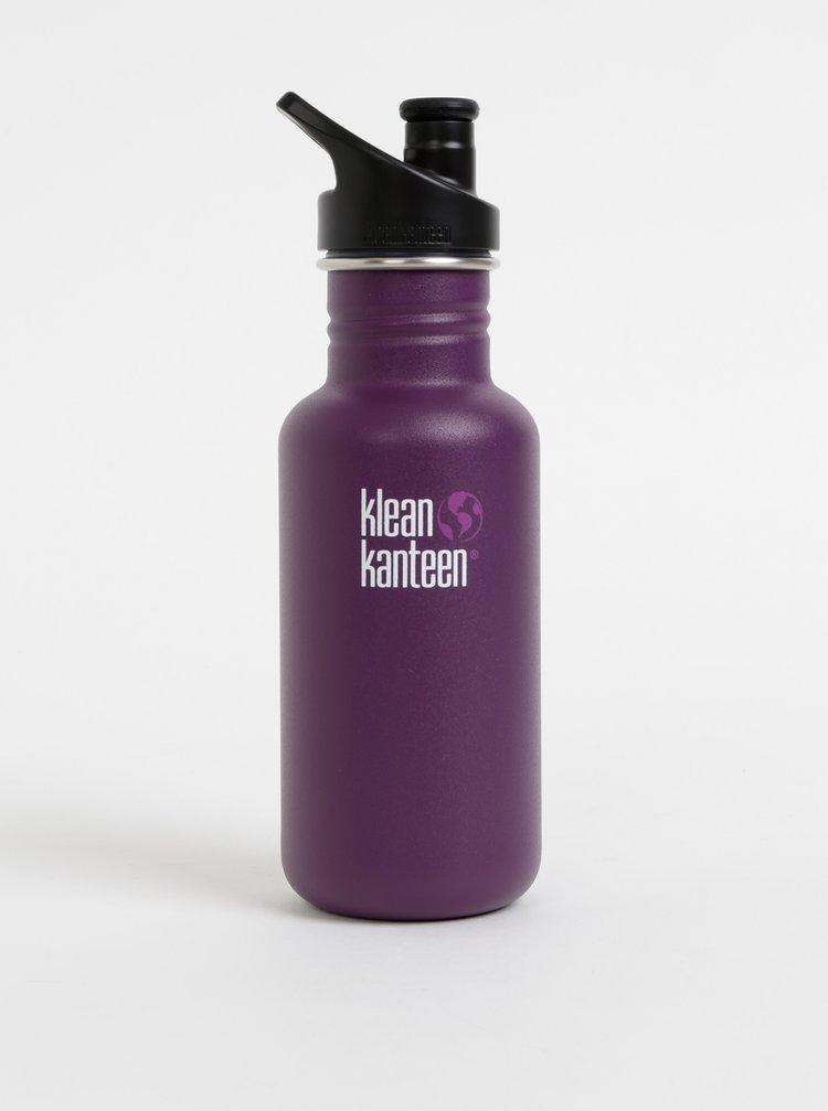 Fialová nerezová láhev Klean Kanteen 532 ml