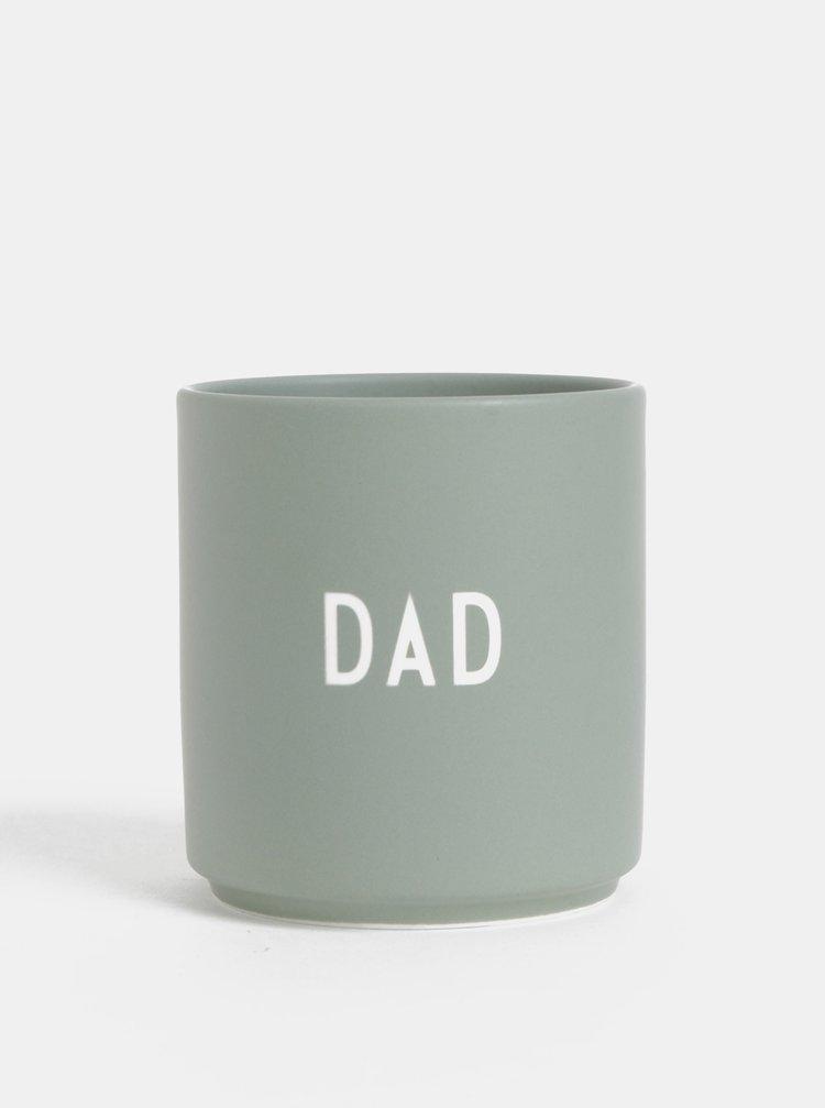 Mentolový porcelánový hrnek Design Letters Love Dad 300 ml