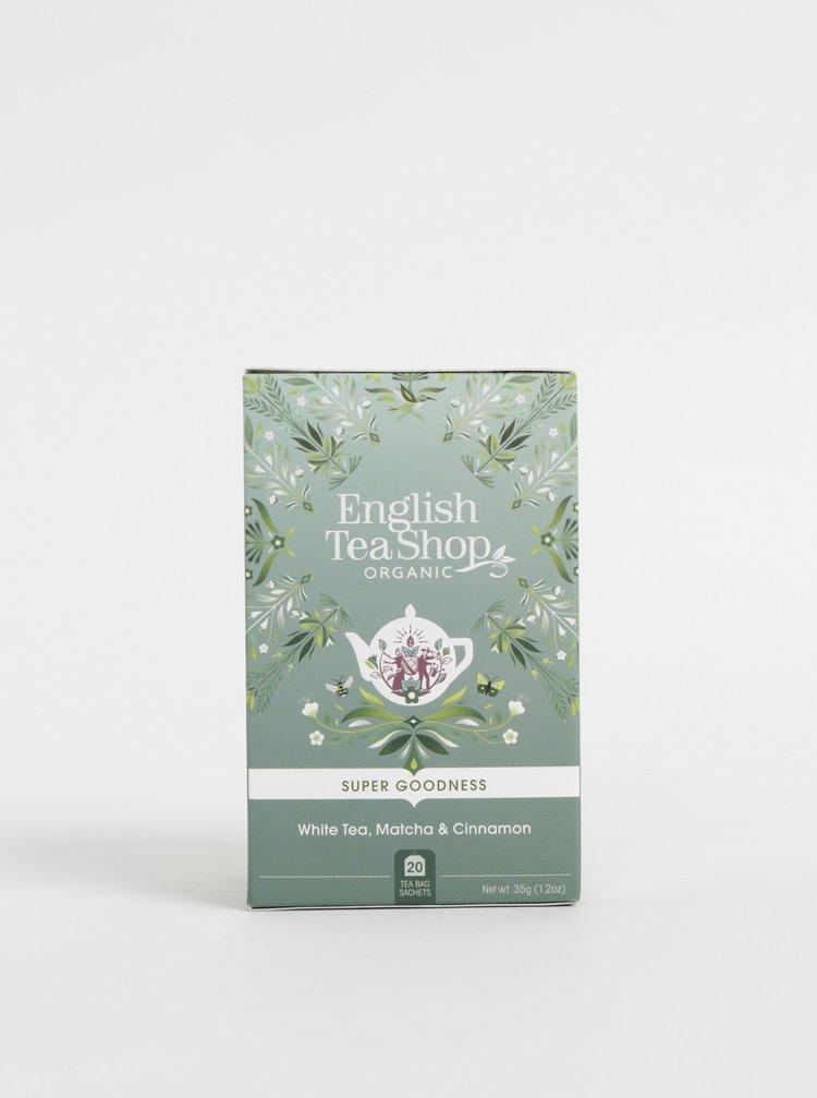 Organický bílý čaj se skořicí, čajem matcha a zázvorem English Tea Shop Super Goodness