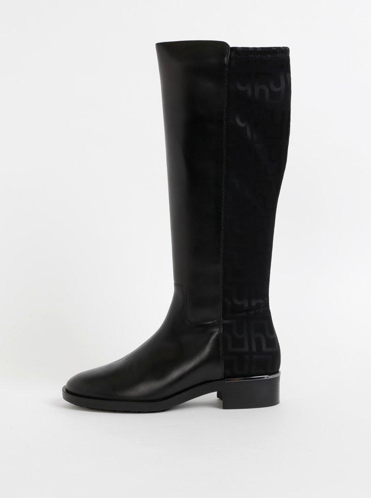 Čierne kožené čižmy Högl