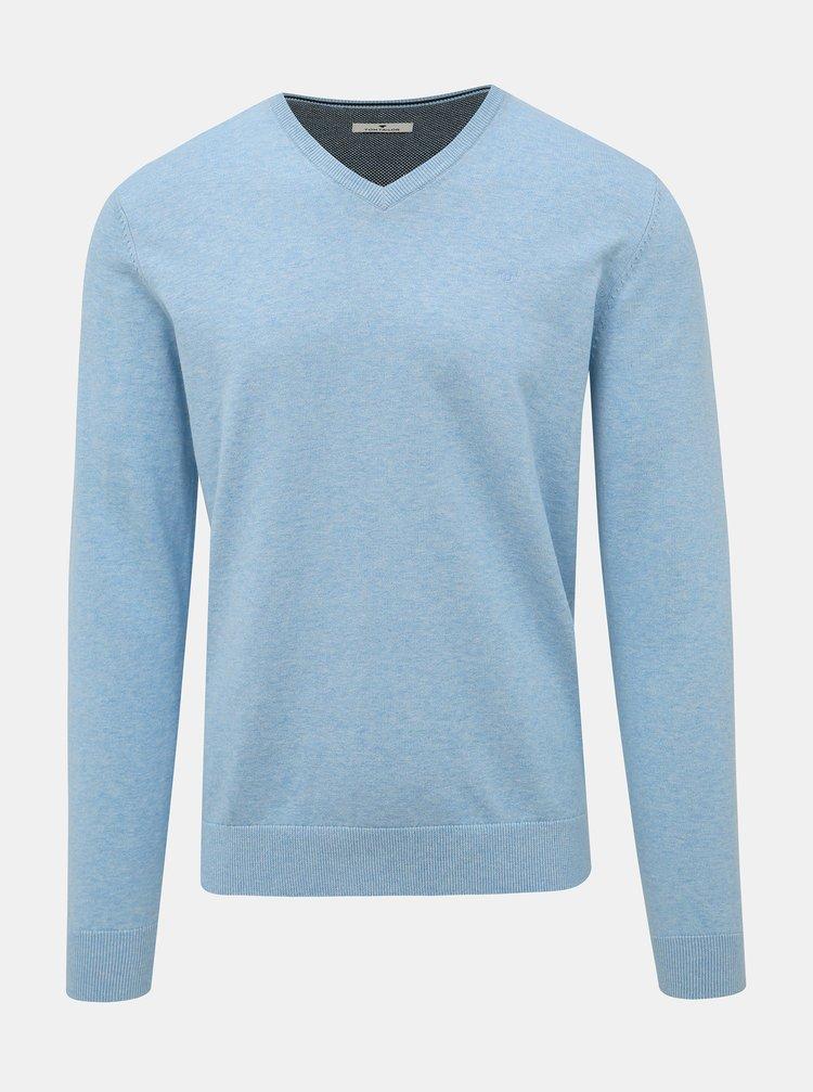 Svetlomodrý pánsky basic sveter Tom Tailor