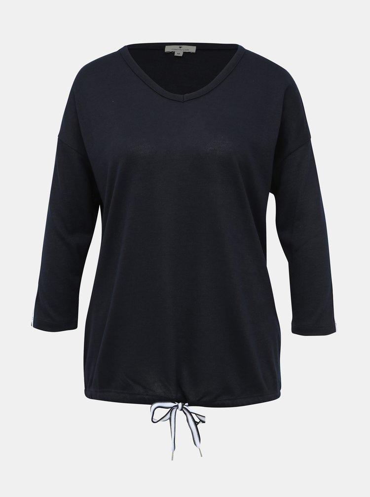 Tmavě modrý dámský lehký svetr s lampasem Tom Tailor