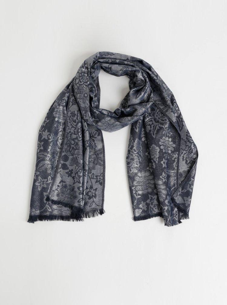Šátek v šedé a stříbrné barvě Something Special