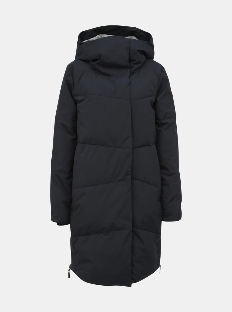 Černý prošívaný nepromokavý péřový zimní kabát Roxy Abbie