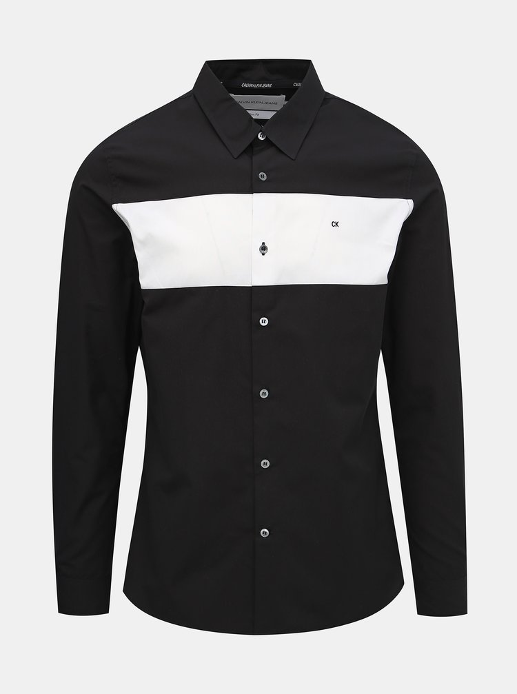 Černá pánská slim fit košile Calvin Klein Jeans