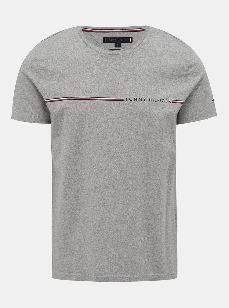Šedé pánske tričko Tommy Hilfiger