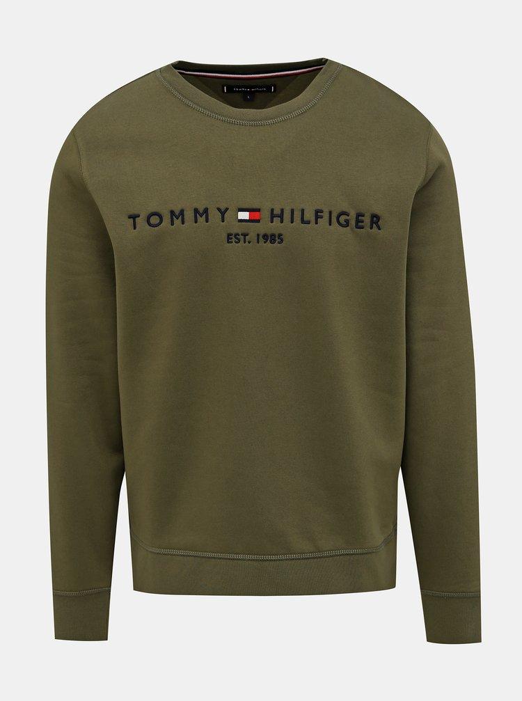 Khaki pánská mikina Tommy Hilfiger