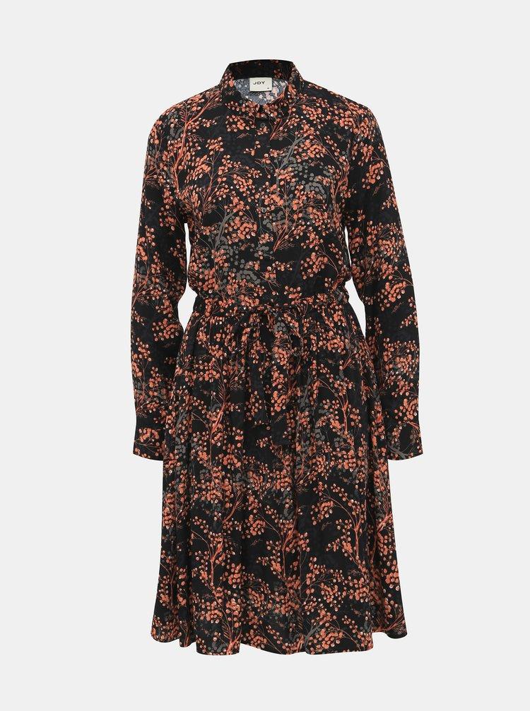Čierne vzorované košeľové šaty Jacqueline de Yong