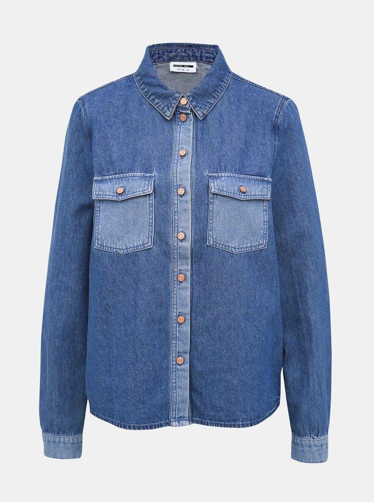 Modrá rifľová košeľa Noisy May Mina