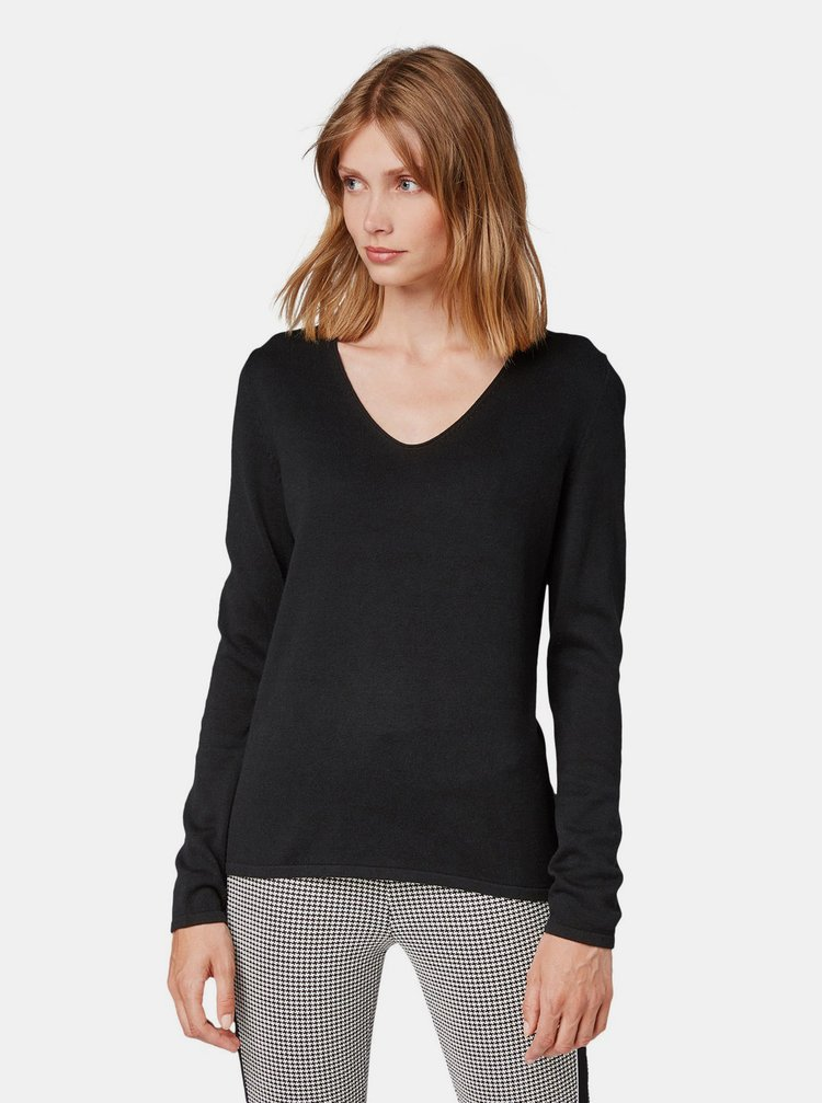 Čierny dámsky basic sveter Tom Tailor