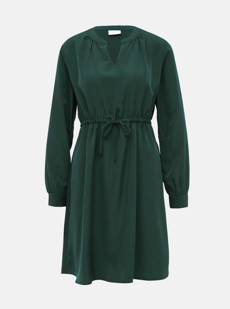 Tmavozelené šaty VILA Joan