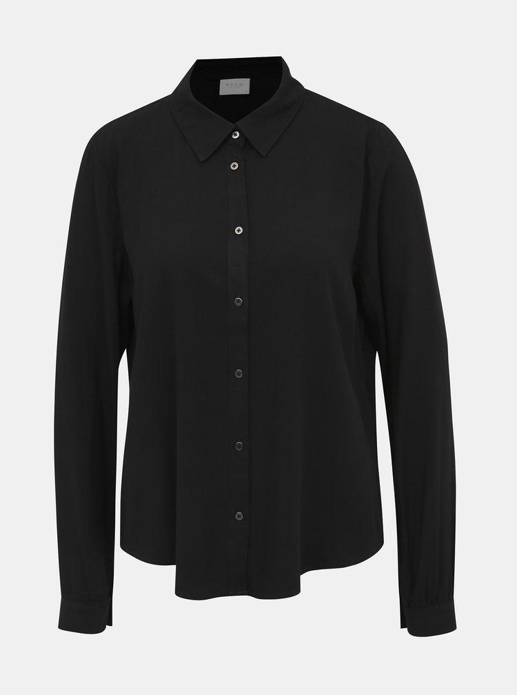 Čierna košeľa VILA Jamille
