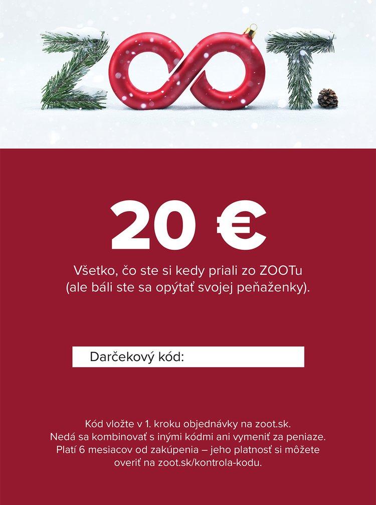 Vianočný elektronický poukaz zo ZOOTu v hodnote 20 €