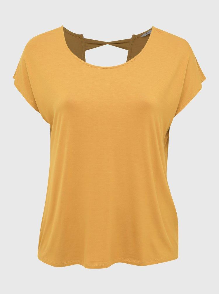 Horčicové tričko ONLY CARMAKOMA Christiane