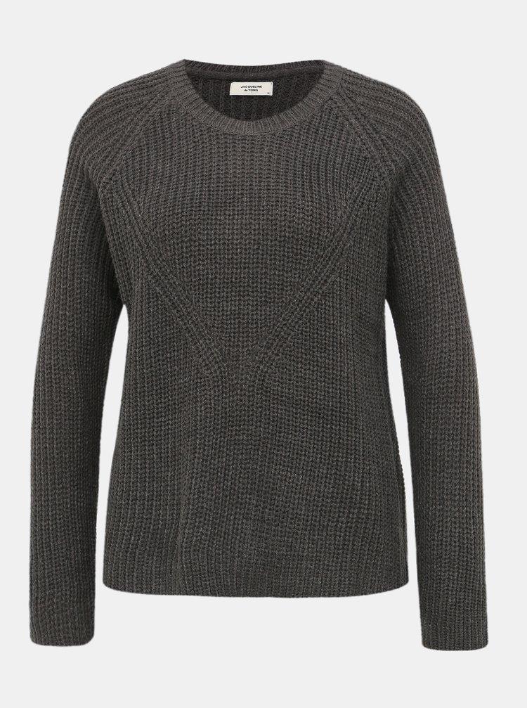 Šedý basic sveter Jacqueline de Yong Justy