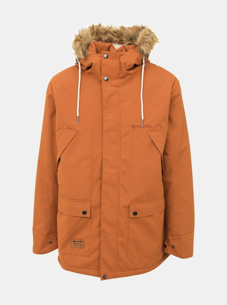 Hnědá pánská funkční zimní bunda Meatfly Rodney
