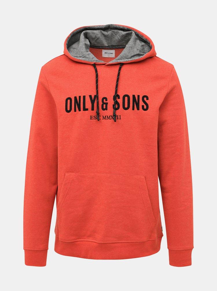 Oranžová mikina ONLY & SONS Keith