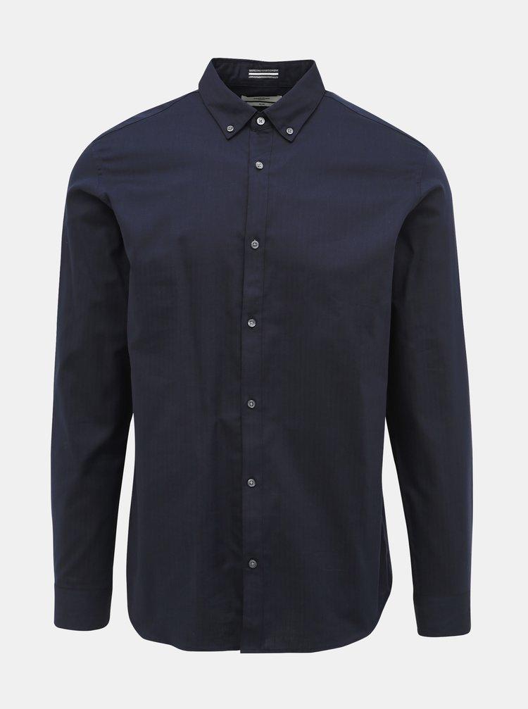 Tmavomodrá slim fit košeľa Jack & Jones Focus