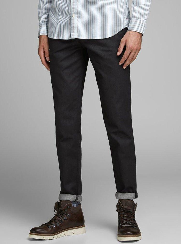Černé chino kalhoty Jack & Jones Ace