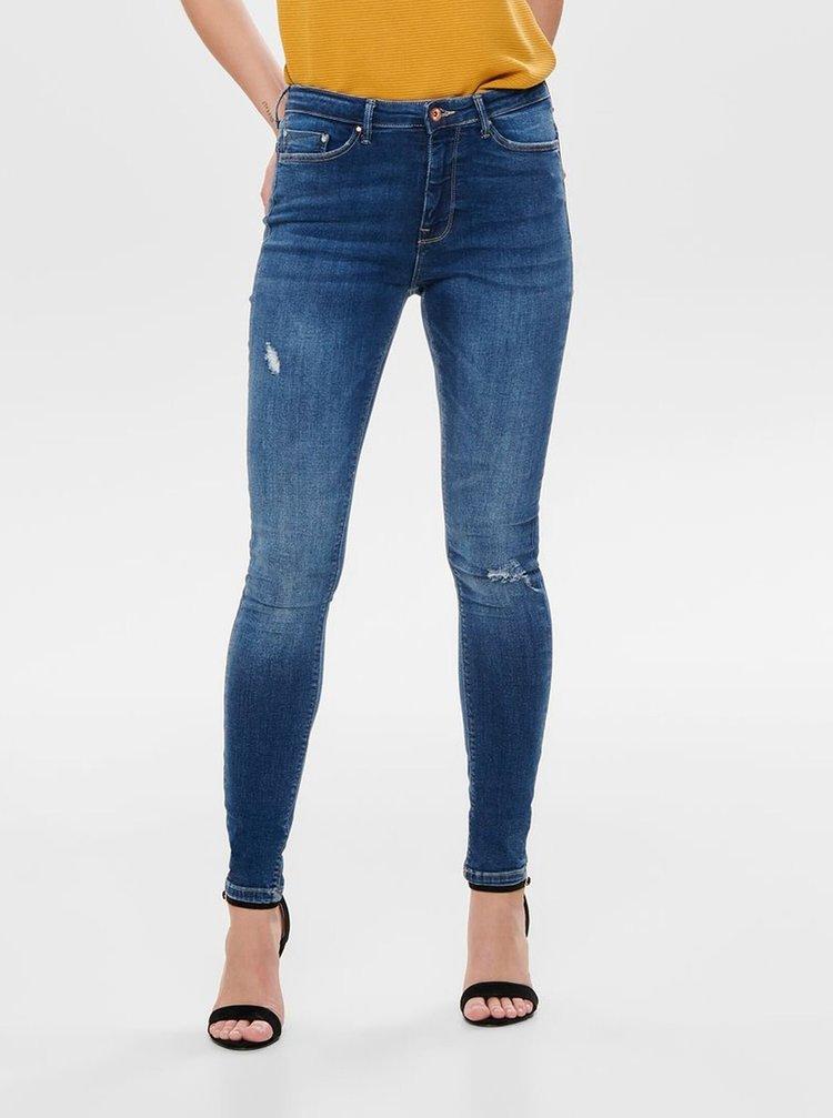 Modré skinny fit džíny ONLY Paola