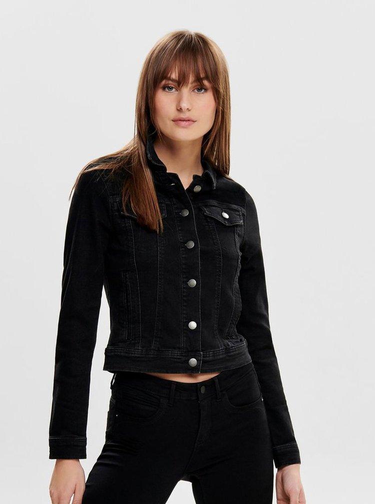 Černá džínová bunda Jacqueline de Yong Winner
