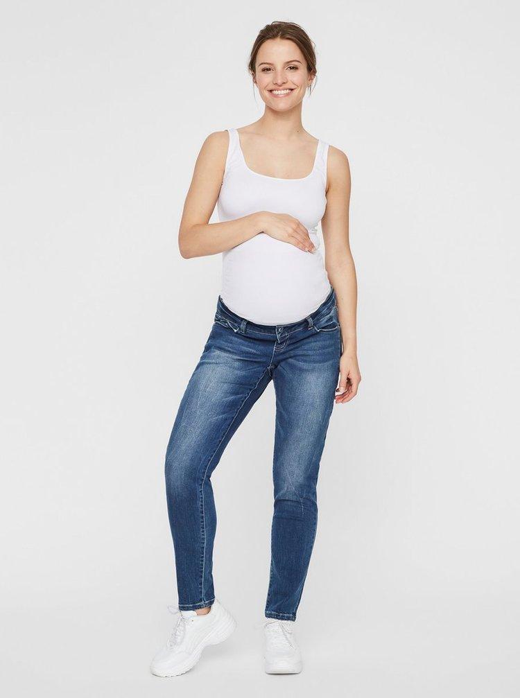 Modré těhotenské boyfriend džíny Mama.licious Globe