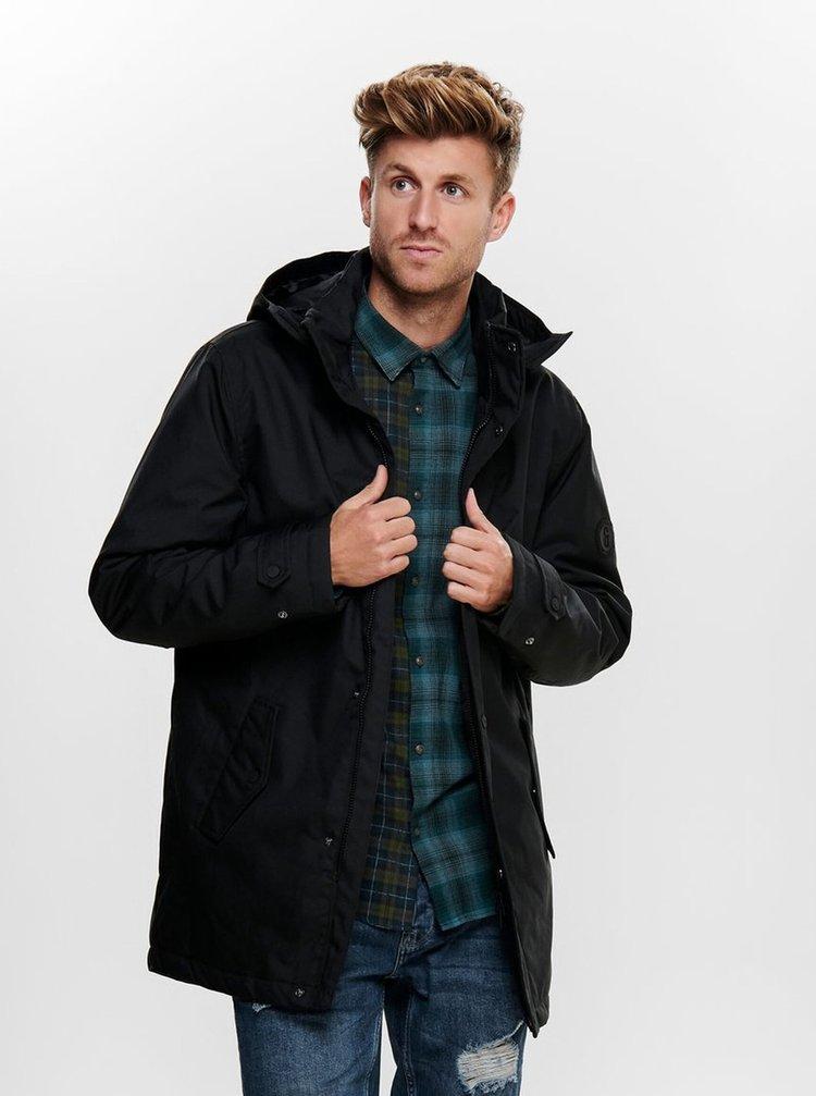 Čierna zimná bunda ONLY & SONS Favour