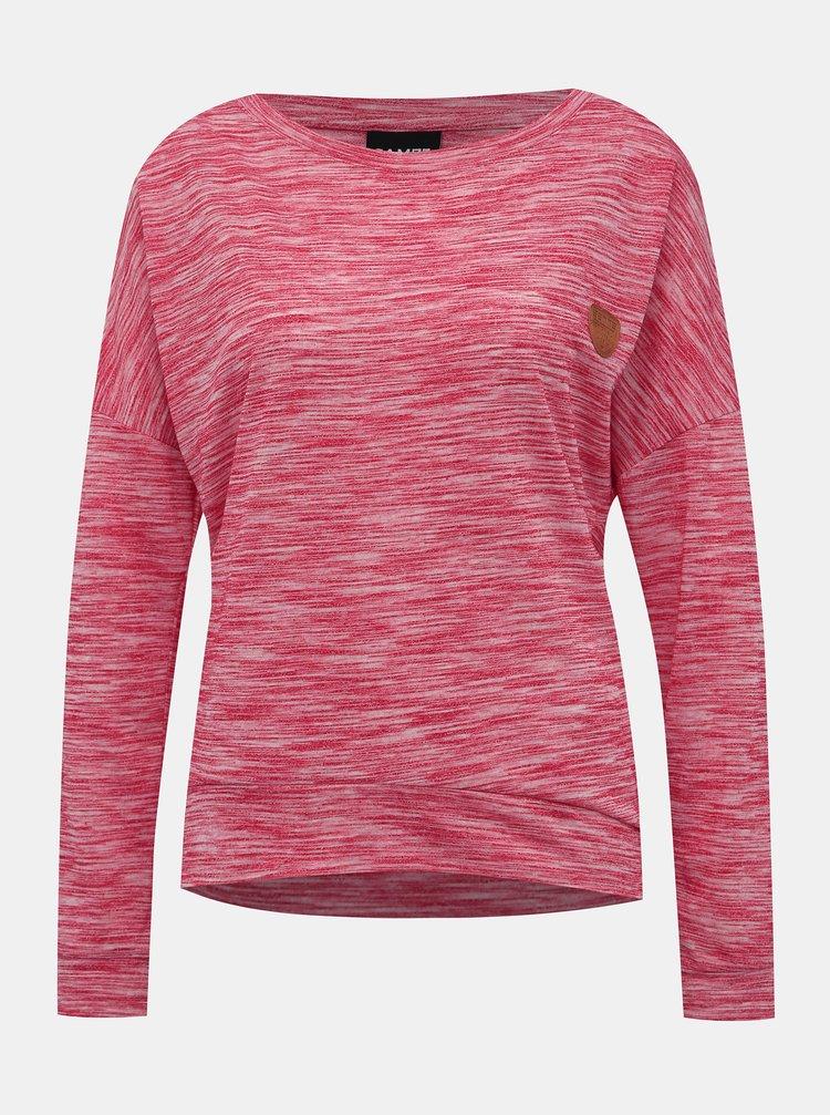 Tmavě růžové dámské tričko SAM 73