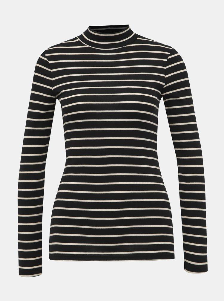 Černé pruhované basic tričko Dorothy Perkins
