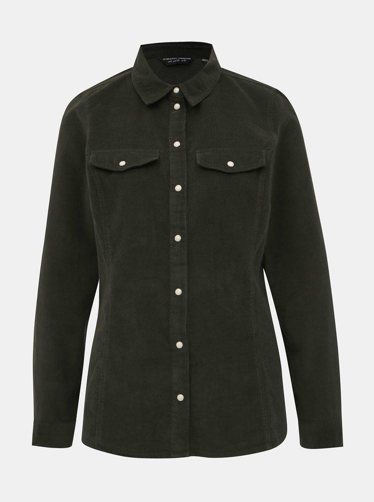 Khaki menčestrová košeľa Dorothy Perkins