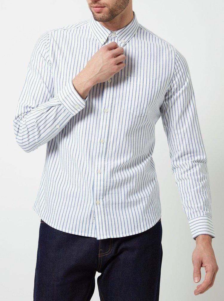 Bílá pruhovaná košile Burton Menswear London